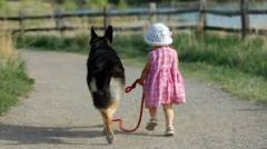 dog and little girl 1