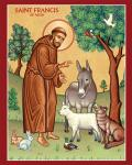 saint francis-with-animals-in-Nature